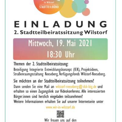 Es geht in die zweite Runde! - Einladung zur 2. Stadtteilbeiratssitzung Wilstorf